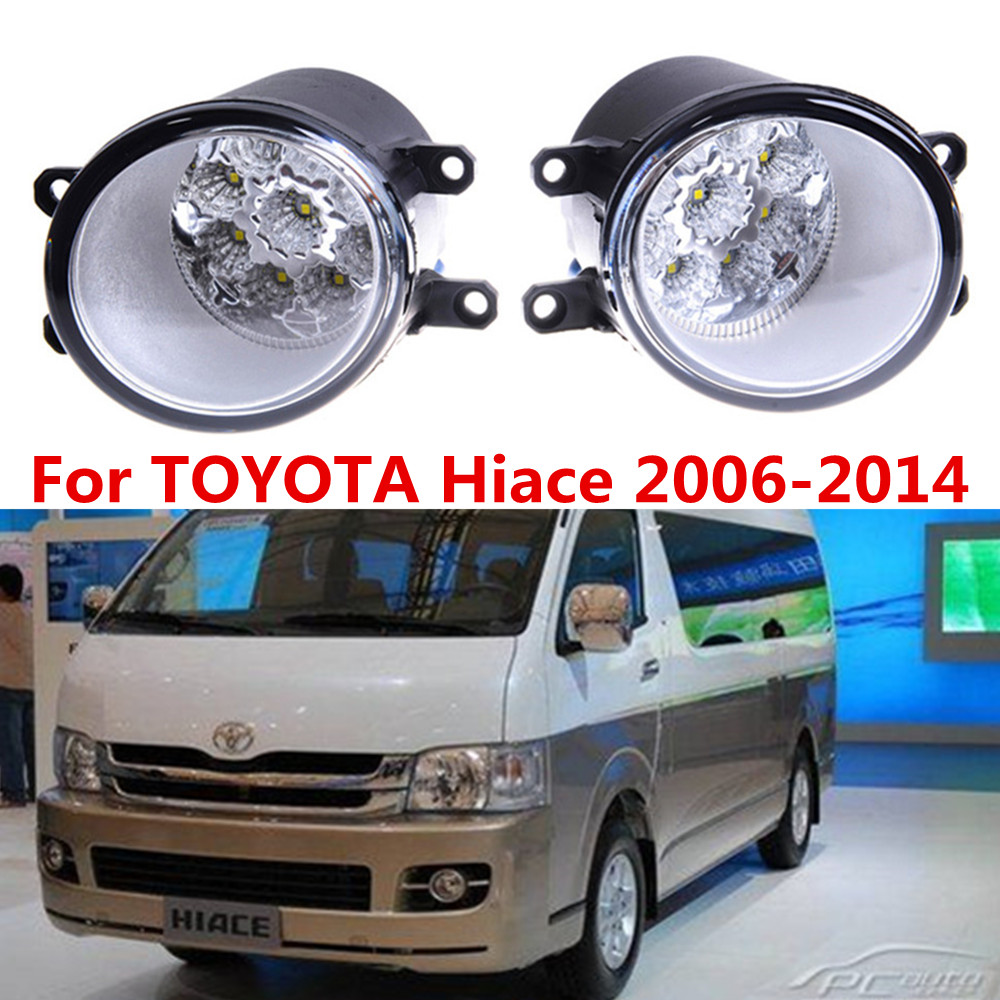 For toyota hiace 2006 2014 car styling front bumper led fog lights high brightness fog