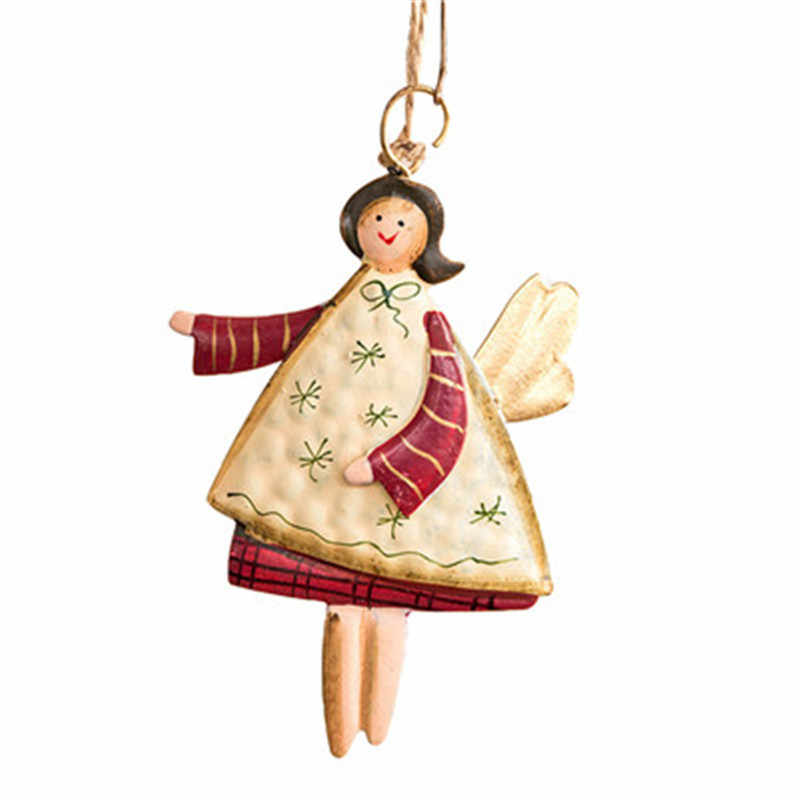 christmas decorations for home Gifts Angel santa claus shape Iron Pendant Tree Ornament Party Home Hanging Decor 2019