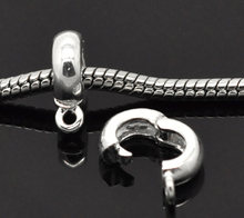 "European Style Bails Beads Round Silver Plated 13mm( 4/8"") x 10mm( 3/8"") , 1 Piece new(China)"