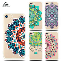 Lizardhill Retro Bloemen Bloemen telefoon Case Voor iphone 6 6 S Plus 7 7 PLUS Hollow Mandala Henna Cases soft TPU Siliconen Cover Capa(China)