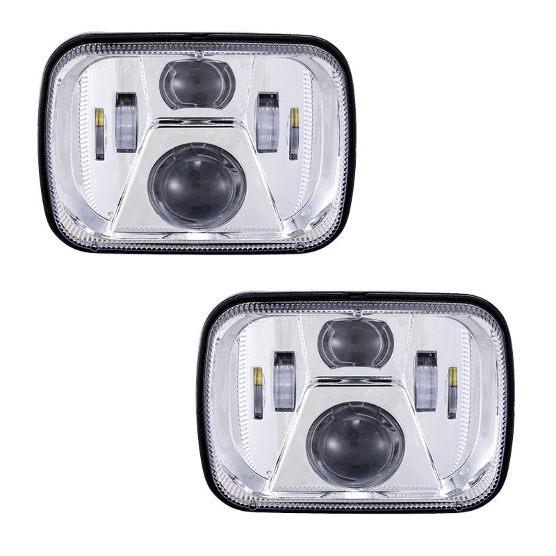 Pair Headlamp for Jeep YJ XJ Cherokee 5x7 Rectangular Led headlight 6x7 Square LED Truck Lighting Headlamp for MJ Post free faduies 5x7 auto drl led headlamp 5x7 inch led truck headlight 6x7 high low beam square led headlight for jeep cherokee xj