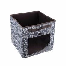 canvas fabric cube storage bins foldable premium quality collapsible baskets closet organizer drawers