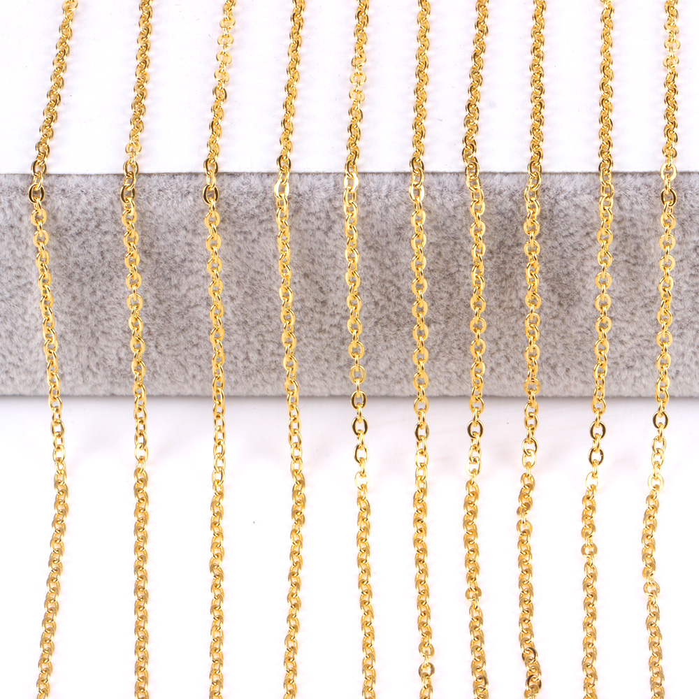 cable sterling flat chains the silver wholesale mm oval chain gold plated cute by foot bulk