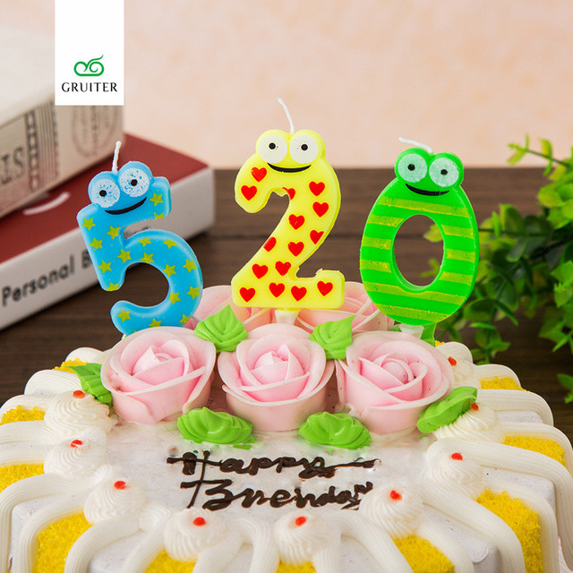 1pcs Kids Birthday Number Candle Digital Candle 0 1 2 3 4 5 6 7 8 9