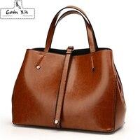 Luxury Ladies Boston Bag 2018 Famous Brands Women Genuine Leather Bags High Quality Designer Vintage Messenger