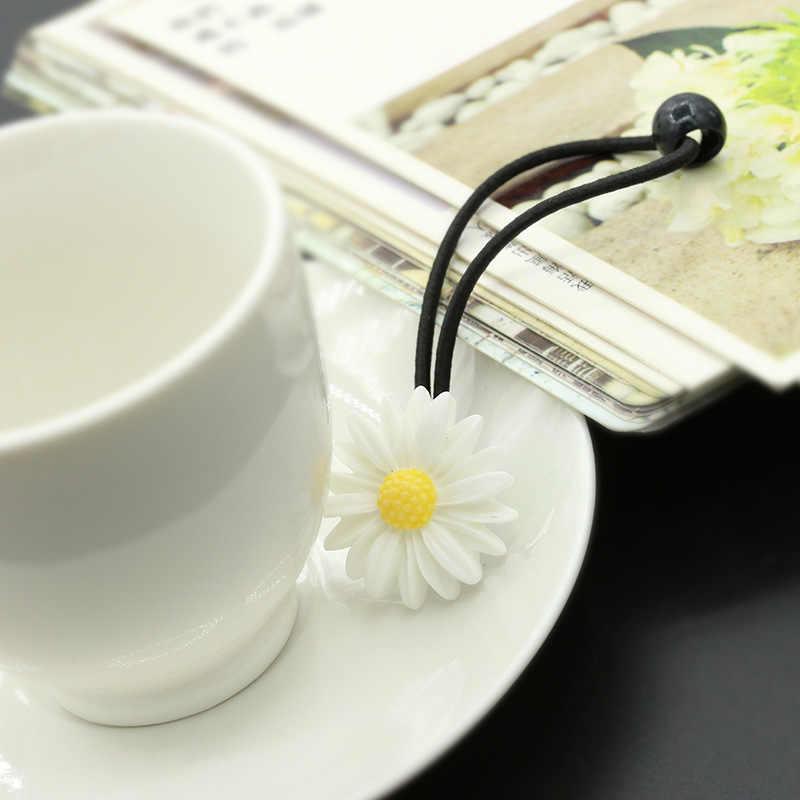 2 шт. маргаритки стрейч милый простой и благородный вид темперамент стиль резинка для волос шпилька хвост девочка ребенок