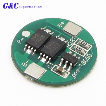 5PCS 1S 4A BMS 18650 battery 4.2V battery protection board 18650 lithium charge and discharge protection board dual MOS 10set lot 18650 lithium battery universal dual mos protection board 4 2v anti overcharged over discharge