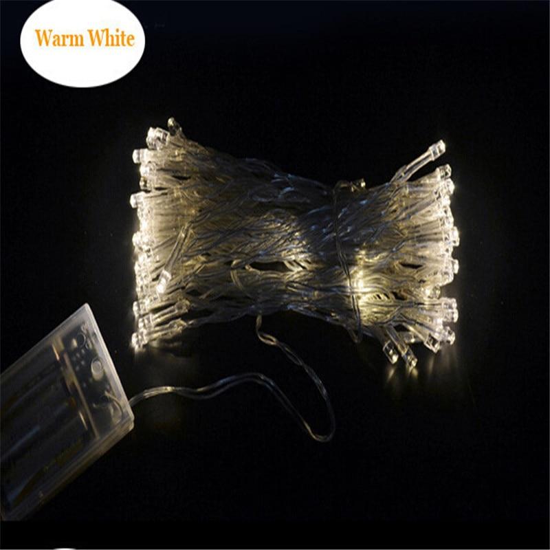 50 LED-batteridrivna LED-stränglampor för Xmas Garland Party Bröllopsdekoration Christmas Flasher Fairy Lights