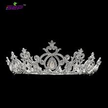 Реальные Австрийские Кристаллы Перл Крона тиары Свадебные Свадебное Волос Ювелирных Аксессуары SHA8738