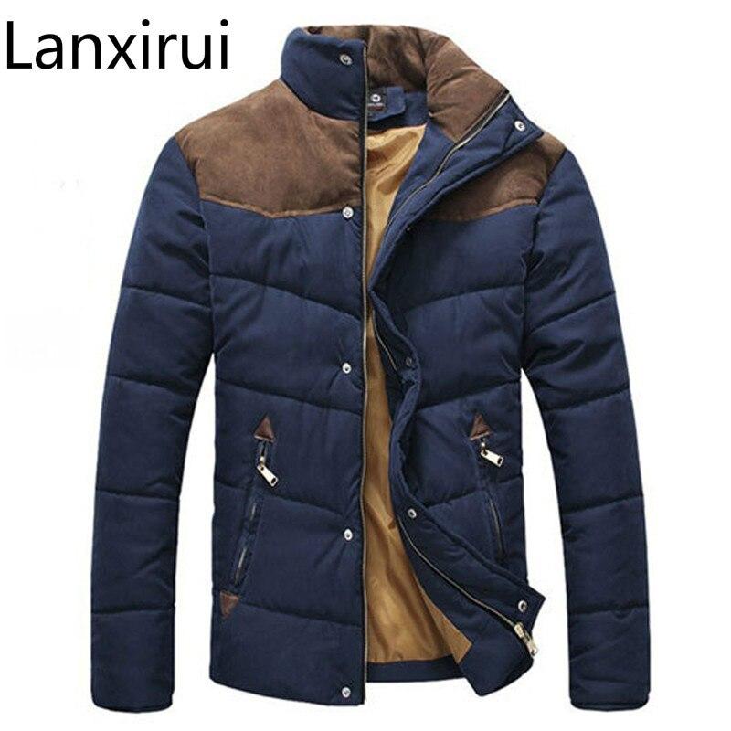 2018 Heißer Verkauf Männer Winter Spleißen Baumwolle Gefütterte Mantel Jacke Winter Größe M-xxl Parkas Hohe Qualität Mwm169 Tropf-Trocken