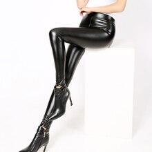 Womens Fashion Black PU Leather Leggings Pants For Female Plus Size Autumn Spring Sexy Stretch Slim Skinny Legging Trousers XXXL