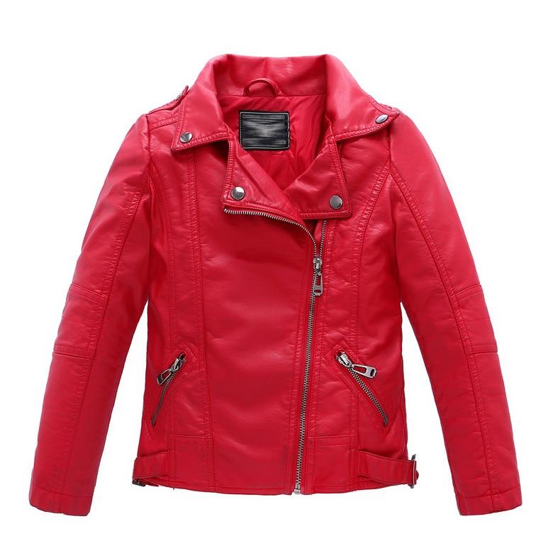 ZOETOPKID PU cuir garçons veste printemps automne enfants filles manteau pour 2-12 ans enfants veste enfants manteau enfants vêtements filles