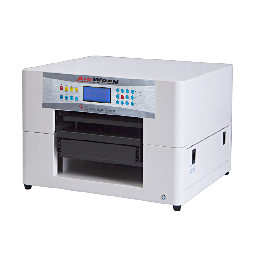 280mmx420mm Small UV Flatbed Printer With One-button Reset AR-LEDMini4