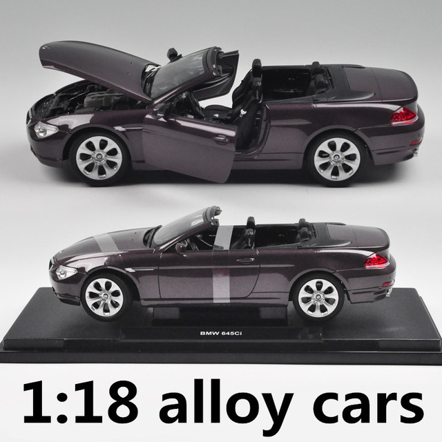 1:18 alloy cars,high simulation model 645CI convertible,metal diecasts,coasting,the children's toy vehicles,free shipping