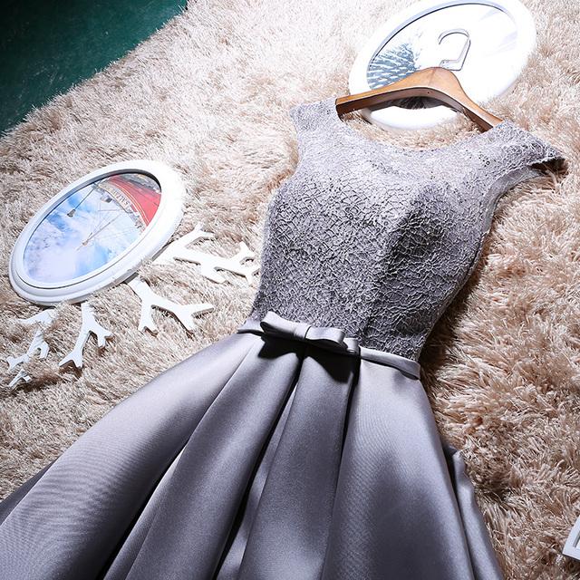 New arrival elegant party mini prom dress Vestido de Festa A-line lace  lace-up  cocktail party dress free shipping