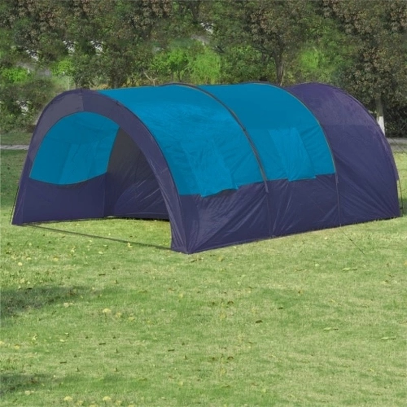 15% Polyester Camping Tent 6 Persons Blue Dark Blue