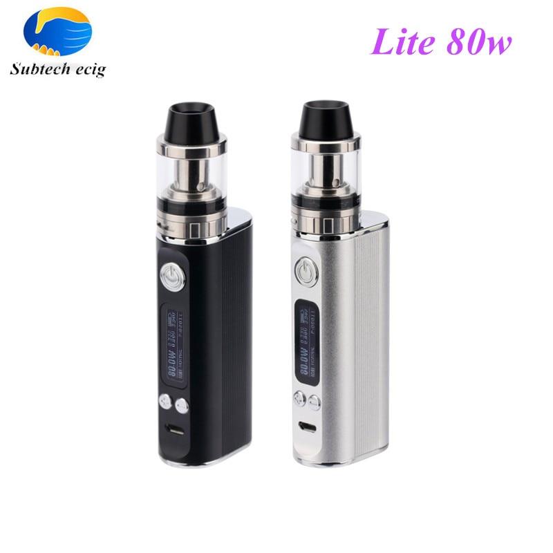 Fashion e cigarette Jomo Lite 80w Vaper mod wattage 5w-80w cigarette electronic with LCD display vaporizer box mods kit