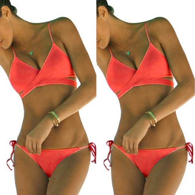 Hot sale bikinis women Push Up Padded Bra Bandage Bikini Set Swimsuit swimwear women Bathing Suit biquini bikini 2018 mayo 3