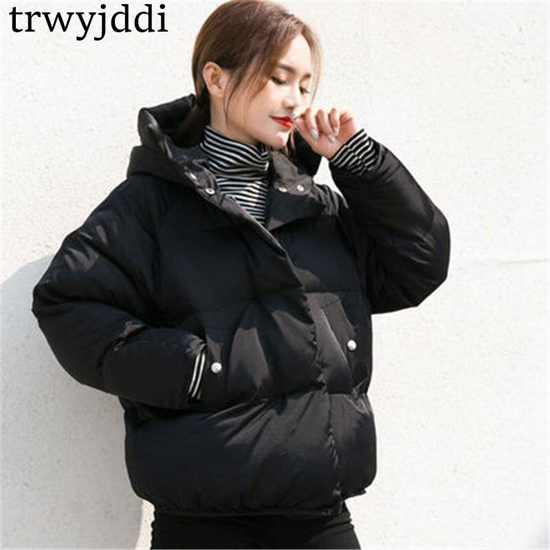 Lâche Vers 2018 Coréenne Manteau Automne pink Bas Courtes Hiver Coton Capuche D'hiver Noir Black Vestes Femelle Femmes Bf N161 Le Nouveau Parkas Vent aaPrqwz8