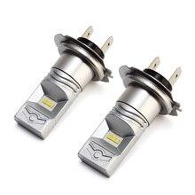 XINFOK 2 шт. H7 светодиодный головной светильник s лампы CSP Chipsb DC 12 В 6000лм 60 Вт 6000 К налобный фонарь автомобильный светильник источник