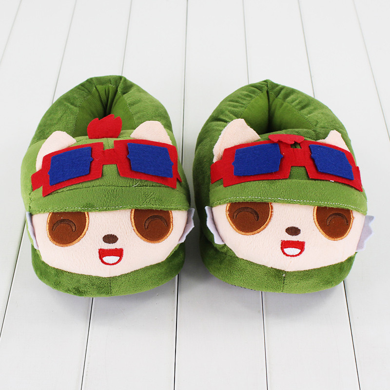 Rammus Teemo Plush Slippers 26cm Stuffed Plush Toy Adult Home Indoor Slippers Doll #2084 Birthday Party Gift stuffed animal 44 cm plush standing cow toy simulation dairy cattle doll great gift w501