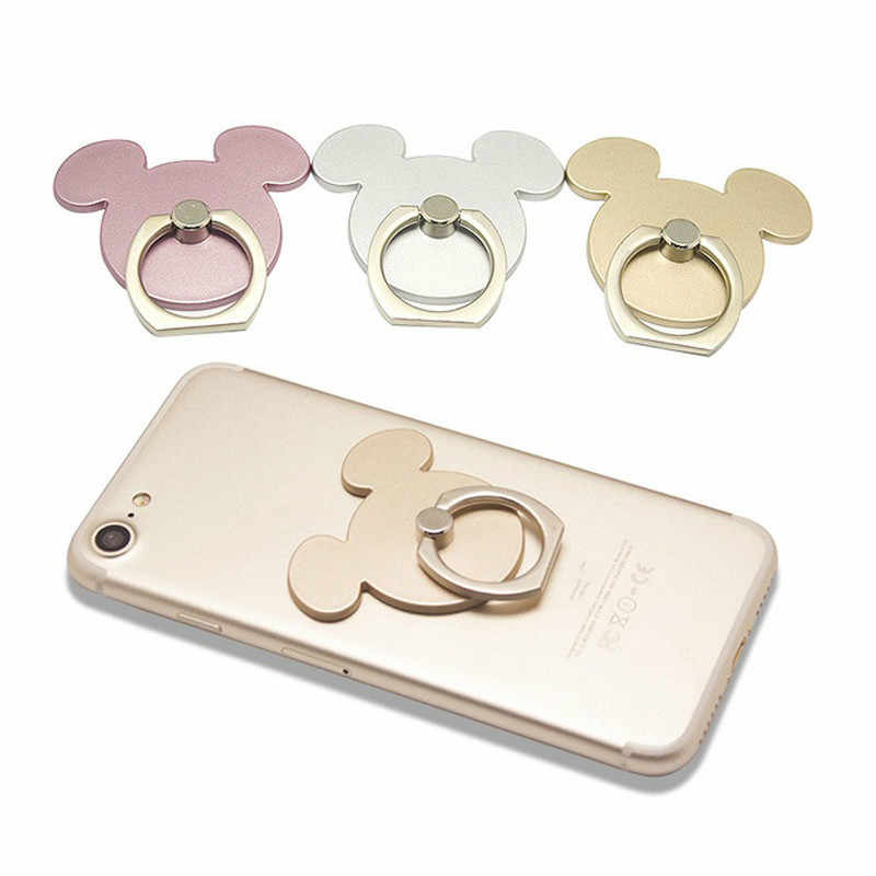 for IPhone Pad Cartoon Smartphone Holder Stand Cartoon Mickey 360 Degree Finger Ring Mobile Phone Holder Stand Socket Stand