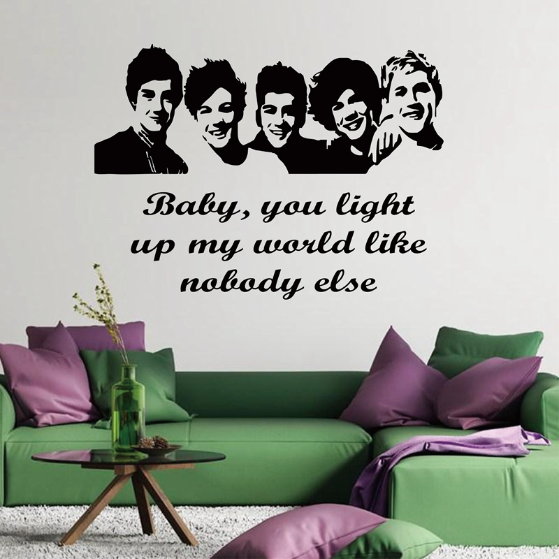 Large Size 100x57cm One Direction 1D Vinyl Teen Bedroom