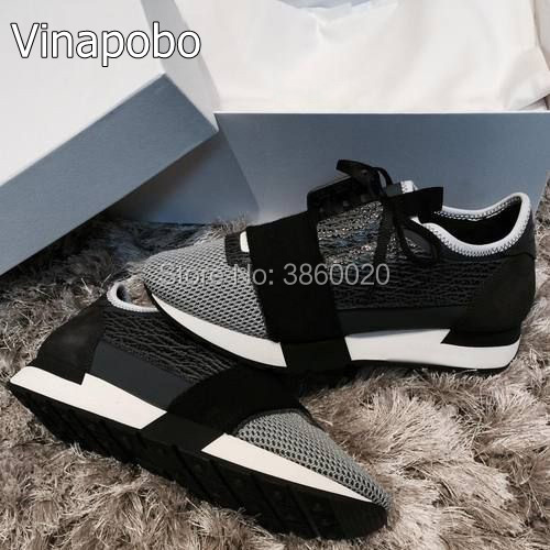 2018 Newest Designer Luxury Brand Man Woman Shoes Flats shoes Fashion Nude Black Mesh Leather Lace