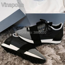 2018 Newest Designer Luxury Brand Man Woman Shoes Flats shoes Fashion Nude Black Mesh Leather Lace up Trainers men Casual Shoes walking genuine leather sneakers lace up thick sole black and white designer shoes women luxury 2018 trainers flats casual brand