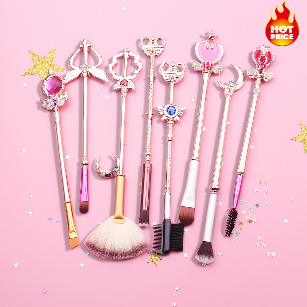 Makeup Brushes Set Sailor Moon Cosmetic Kit Pincel Maquiagem Makeup Brushes Tools Eye Liner Shader Eyebrow Soft Synthetic Hair soft synthetic makeup brushes set 12 pieces makeup tools kit pink with case