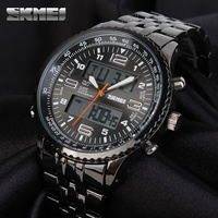 SKMEI 1032 Men Fashion Sport Watch Digital Quartz Movement Dual Time Display Chronograph Alarm Clock Wristwatches