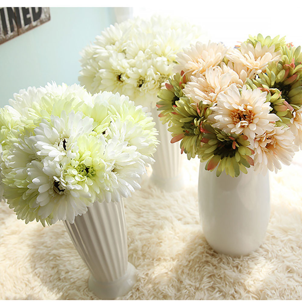 Online get cheap artificial daisy leaves aliexpress alibaba high quality artificial silk fake flowers leaf magnolia floral wedding bouquet bridal hydrangea decorchina dhlflorist Gallery