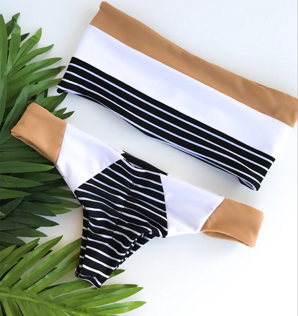 Telotuny women swimwear praty stripe Hit color Bandeau Bikini maternity swimwear women swimwear 2018 maternity clothing JL 12Telotuny women swimwear praty stripe Hit color Bandeau Bikini maternity swimwear women swimwear 2018 maternity clothing JL 12