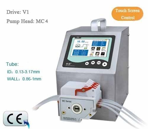 Peristaltic Pump V1 Dispensing 12 channel MC12 6 Roller 0.00008 -45ml/min per channel CE Certification One Year Warranty peristaltic pump basictype bt100m mc12 6 roller