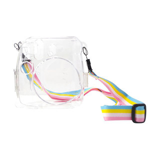 Image 4 - Powstro Cases For Fujifilm Instax Mini 9 Camera Protection Case Transparent Plastic Cover With Strap For Fuji Mini 8/8 Bag
