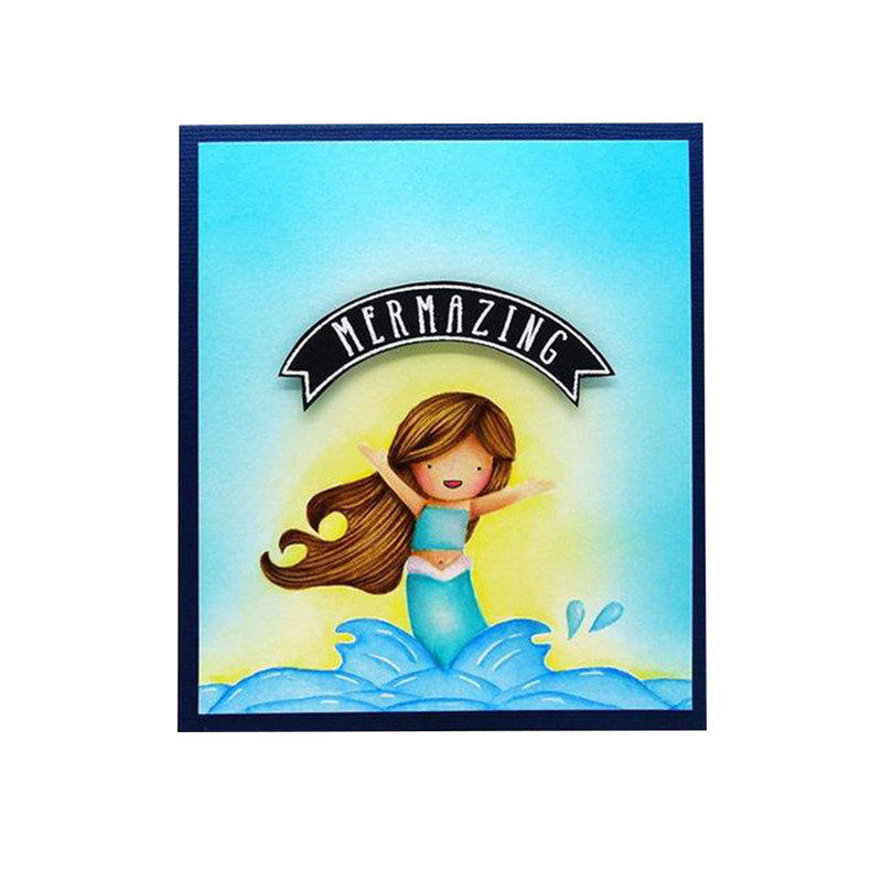 ShapeW Mermaids Silicone Clear Stamp Scrapbook Album Home Decor Gift Card Kid Adult DIY