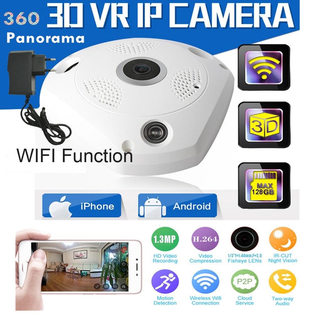 1 PCS 960P Wireless IP Camera 360 Degree Panoramic WIFI Camera Portable Network CCTV Security Protection Baby Monitor Fisheye