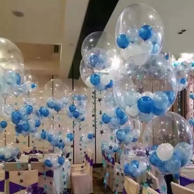 Bobo Balloons Jumbo Latex Clear Transparent Round bubble Balloons without Wrinkle Stylish For Wedding Birthday Decoration in Ballons Accessories from Home Garden