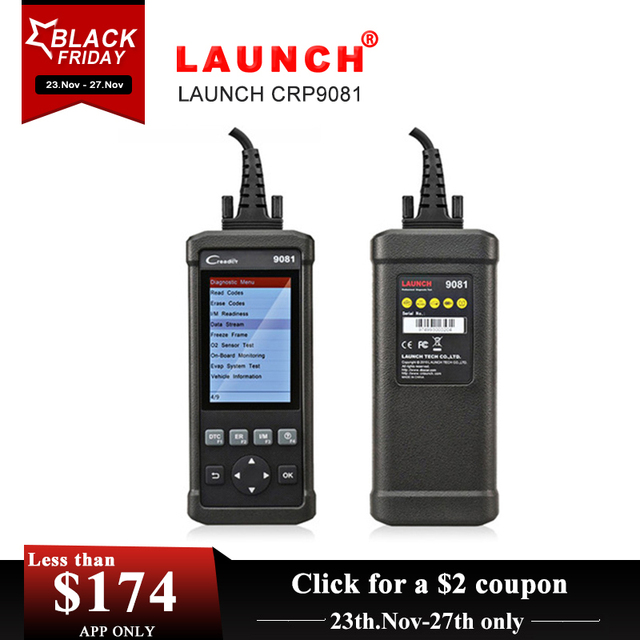 Cheap Launch CReader CR9081 Full OBD2 Diagnostic Tool Scanner DIY Auto Code Reader Automotive Scanner Pairing Car Emissions Analyzer