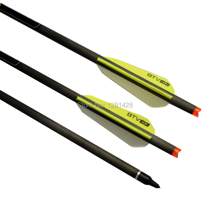 novo 22 carbono besta parafusos com 3 btv aleta para tiro com arco ao ar livre