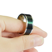 Wholesale 50pcs/lot Smart NFC Ring Finger Magic Ring Waterproof for Sony Samsung Huawei Android NFC Smartphone Size 7 8 9 10 11