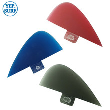 Surf Paddling red Center Kneel Fin Fibreglass Fins Quilhas FCS VS Knubster Keel Set X Small