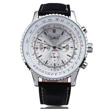 2016 Fashion JARAGAR Mechanical Watches Men Luxury Brand Classic Automatic 6 Pin Calendar Dial Leather Strap Dress Wristwatch