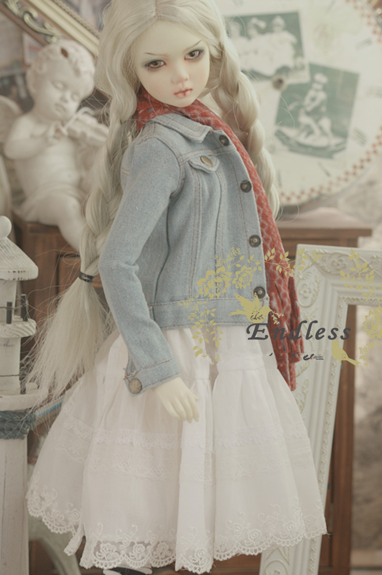 Jeans Top Coat  for BJD 1/4 MSD 1/3 SD10 SD13 SD16 DD SD Luts DOD AS DZ  BJD Doll Clothes CWB20-2