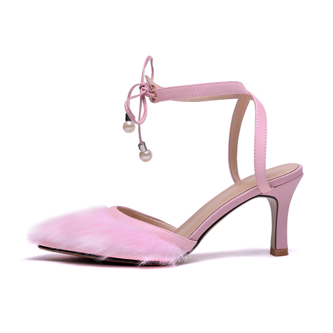 Pour D'été Talons Mode Mules Furtado Arden Fourrure Chaussures Dames Couverture 2018 Haute Cheville Bracelet Stilettos De Pink Sandales Femme Rose Bleue bule Orteil EIqZUpw