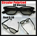 5pc/lot passive cinema circular polarized 3d film glasses circular polarized 3D glasses Hot Selling  free shippinf