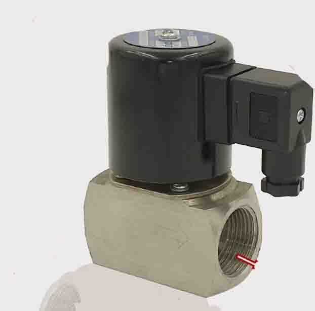 Électrovanne de piston pilote Micro de 1 pouce 2/2, vapeur de médias, eau chaude, huile à hautes températures, électrovanne d'acier inoxydable d'air