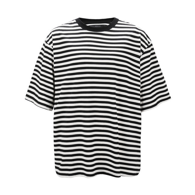 7b84a0772a0 US $15.58 30% OFF|Men's Striped T shirt 2018 Summer Multicolor Patchwork  Oversized Short Sleeve Tshirts Men Streetwear Fashion Trend Hip Hop Tops-in  ...