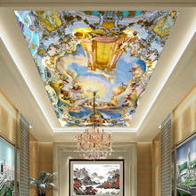Custom home large mural ceiling frescoed ceilings Western European church ceiling 3D wallpaper myth