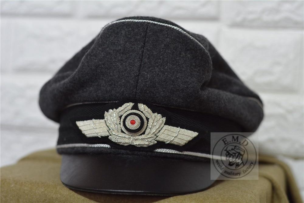 WW2 E M D German Air Force Officer hat Wool